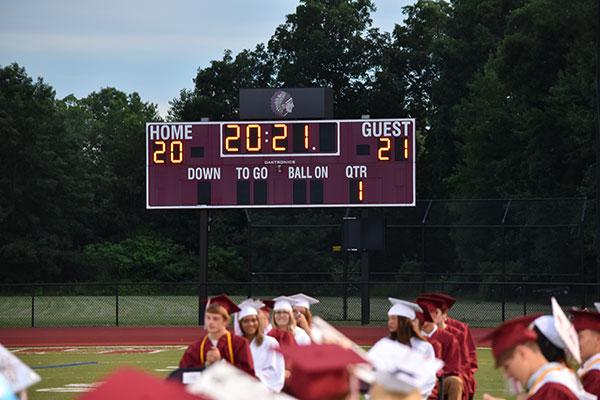 grads and scoreboard